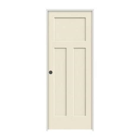 Craftsman 3 Panel Interior Door by Jeld Wen 36 In X 80 In Molded Smooth 3 Panel Craftsman