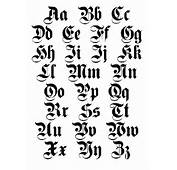 Old English Cursive Letters