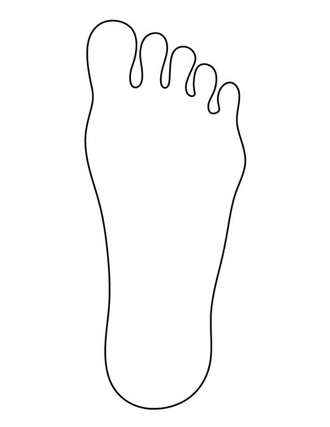 footprint pattern template foot pattern use the printable outline for crafts