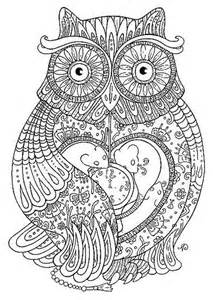 Owl adult coloring page owl coloring pages for adults