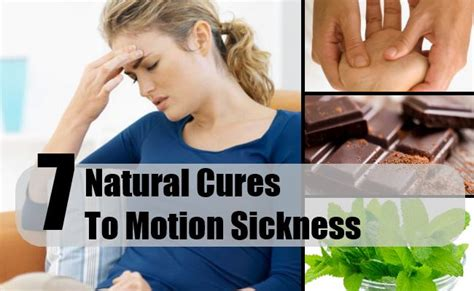 cure for motion sickness how to cure motion