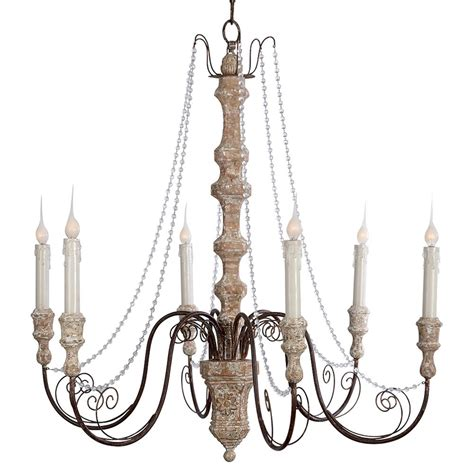 Country Chandeliers Monceau Swag Country Large 6 Light Chandelier Kathy Kuo Home