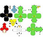 Modelos En Papel O Papercraft De Angry Birds Para Imprimir  Gratis
