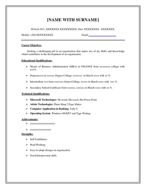 Easy Resume by Easy Resume Template Free Health Symptoms And Cure