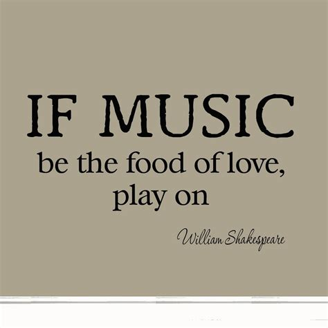 Home Decor Black And White by If Music Be The Food Of Love Play On Decal Wall Quotes
