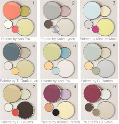 9 designer color palettes ideas design and living rooms