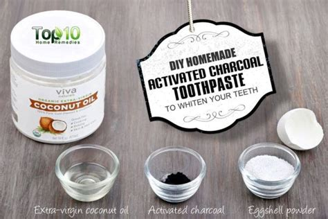 diy homemade activated charcoal toothpaste  teeth