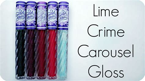 Lime Crime Carousel Gloss By Mrm by Porcelain Princess Review Lime Crime Carousel Gloss