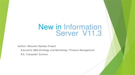 Mba Emphasis In Information Systems In California by New Ibm Information Server 11 3 Bhawani Nandan Prasad