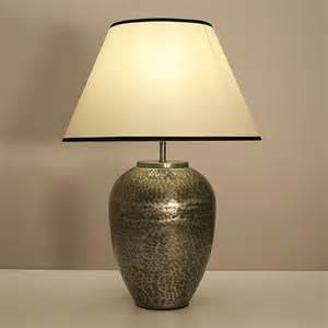 12 quot hammered steel vase table lamp