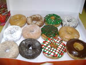 Move over cookie here comes the christmas donut inwinsr