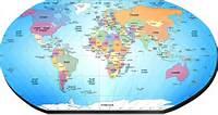 Mapa Mundi Politico Del Mundo