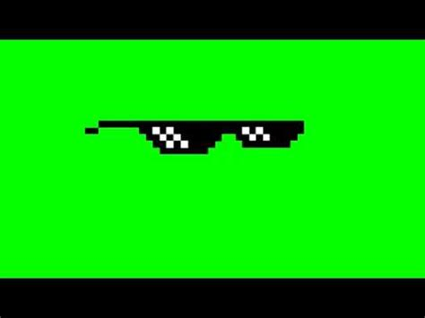 Meme Glasses - deal with it glasses green screen source mlg youtube