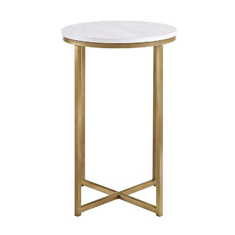 marble gold side table walker edison furniture company 16 in marble gold