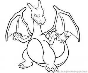 Printable Charizard Coloring TMcug  Pages For Kids sketch template