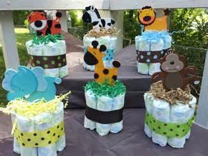 Diaper cake jungle theme 1 jungle theme mini diaper cake baby shower