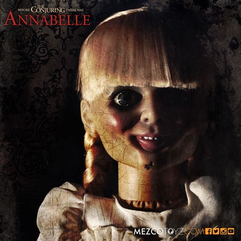 annabelle doll 2015 the conjuring annabelle scaled prop replica mezco toyz