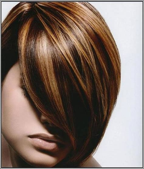 highlight color brown lowlights and highlight hair color with side