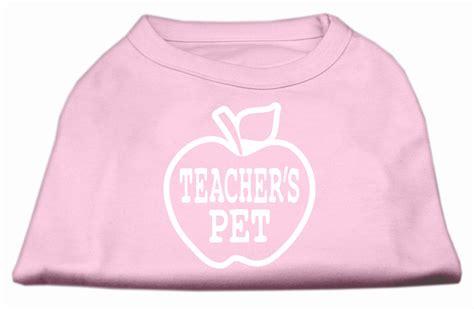 teachers pet teachers pet screen print shirt light pink m 12