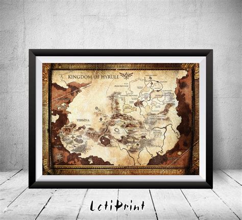legend of zelda map for sale the legend of zelda kingdom of hyrule map legend of zelda