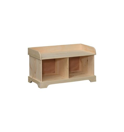 cubby bench 35 inch amish double cubby bench unlimited furniture