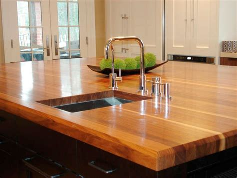 countertops for kitchens butcher block and wood countertops hgtv