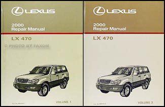 how to download repair manuals 2000 lexus lx spare parts catalogs 2000 lexus lx 470 repair shop manual original 2 volume set