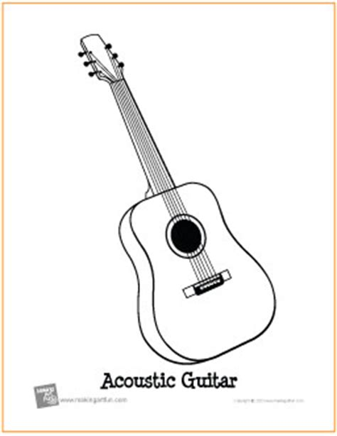 acoustic guitar coloring page 11 guitar coloring pages for kids print color craft