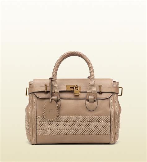 Fendi Woven Tote Supporting American Forests by Gucci Handmade Large Top Handle Bag With Woven Web Detail