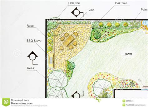 how to plan your backyard landscape architect design garden plan stock image image