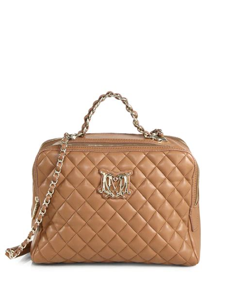 Beige Quilted Bag by Moschino Quilted Borsa Bag In Beige Lyst