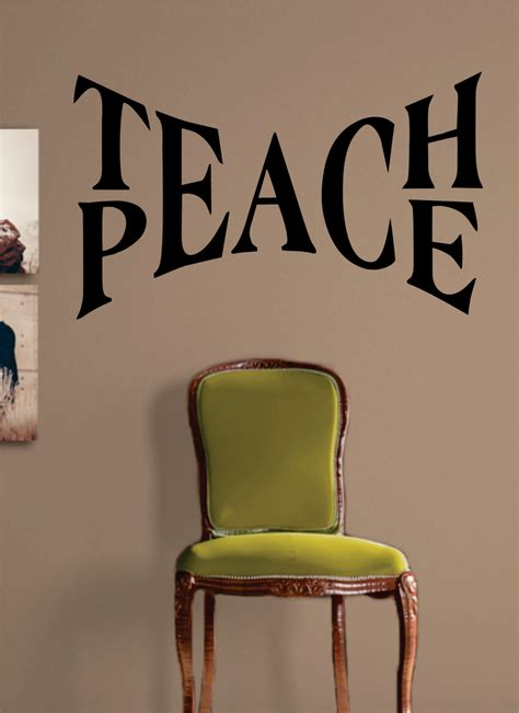 Wall Decor Stickers Cheap teach peace quote design decal sticker wall vinyl art words