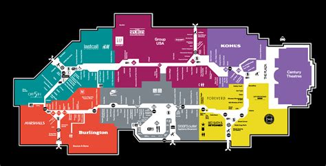 Mall Map of Great Mall®, a Simon Mall Milpitas, CA