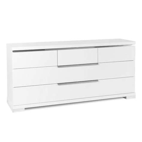 Commode Blanc 6 Tiroirs by Commode Glossy Blanc 6 Tiroirs Achat Vente Commode Pas