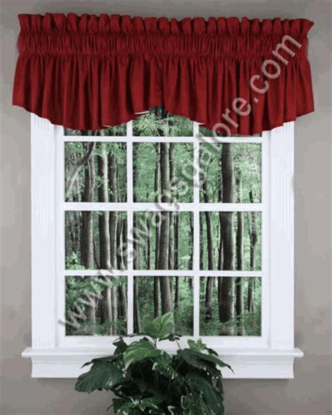 Burgundy Swag Curtains Emery Insert Valance Burgundy Renaissance Country