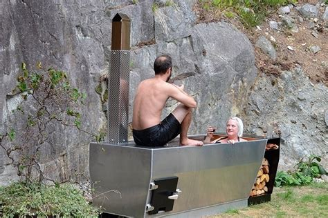 Outdoor Bathtub Wood Fired by Ox Monkey Soak Wood Fired Tub