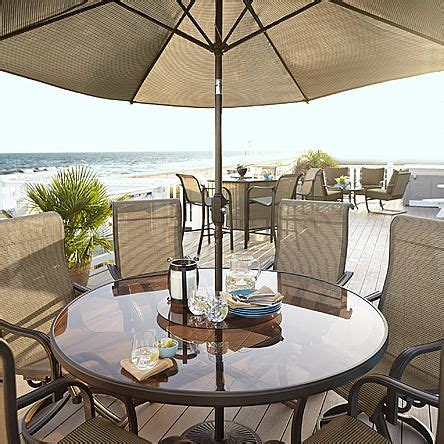 Grand Harbor Edgewater Dining Table with Lazy Susan