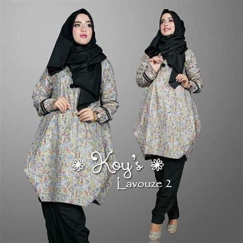 Dress Baju Murah Kuliah Kerja Pengajian model baju kerja wanita muslim lavouze 2 set by koys