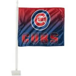 Chicago Cubs Truck Accessories Chicago Cubs Ombre Car Flag Fanatics