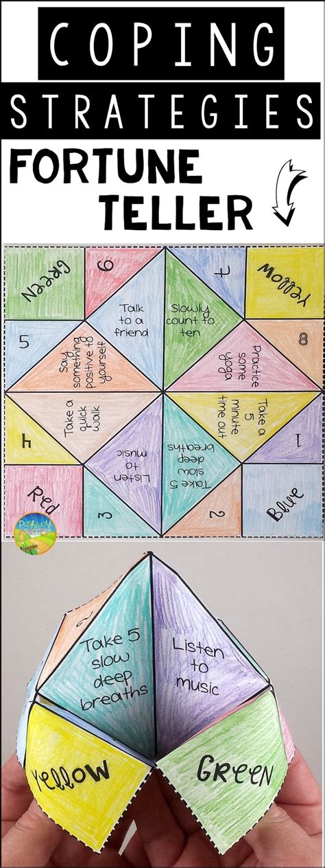 Fortune Teller Paper Craft - coping strategies fortune teller craft paper fortune