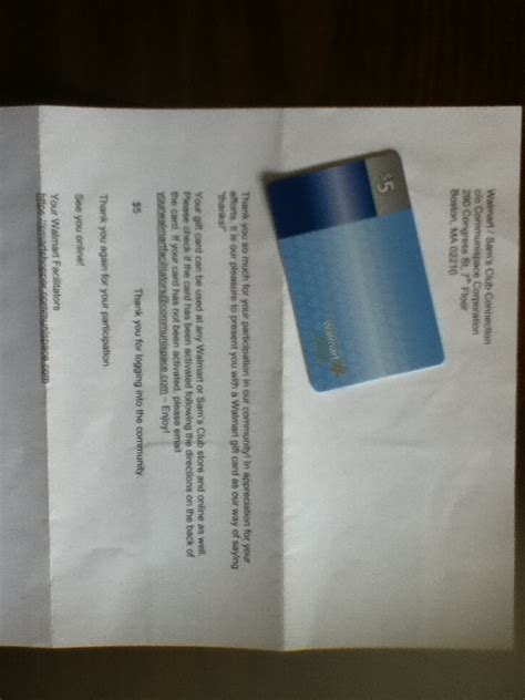 Sams Iphone Gift Card - 5 dollar gift card from walmart sams club connection doing surveys free stuff