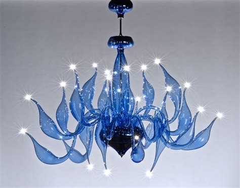 Blue Glass Chandelier Light Blue Chandelier Lu 7 For A Modern Interior Lighting Design