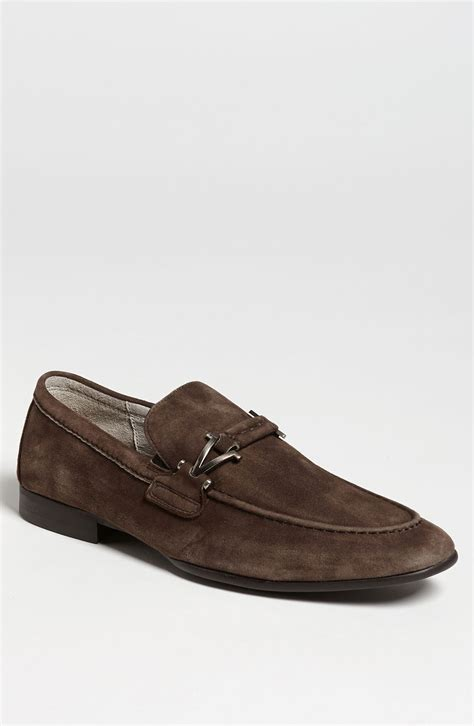 suede bit loafers vince camuto castell suede bit loafer in brown for