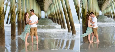 emotional marriage proposal   young couple  myrtle beach