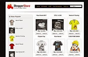 template toko kaos desain profesional gratis bangsahid
