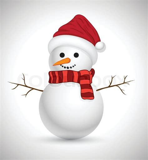 merry christmas snowman stock vector colourbox