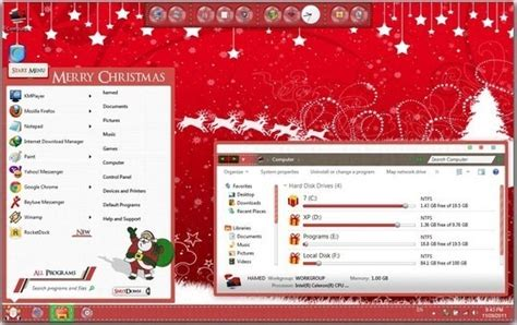 christmas themes pack windows 7 themes occasions windows themes free