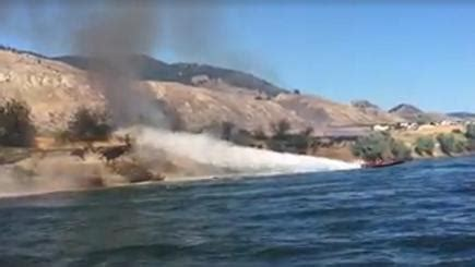 cigarette boat puts out fire in kamloops a couple in canada used their speedboat to try to put out