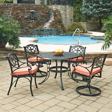 home styles biscayne black 5 piece cast aluminum outdoor