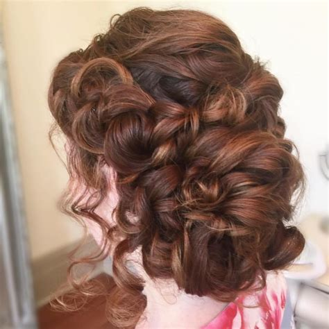 Prom Curly Hairstyles by Curly Hairstyles For Prom With Braid Hair